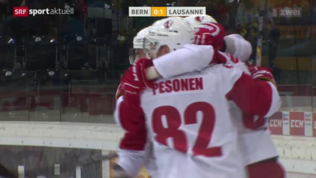 Video «Eishockey: Bern - Lausanne» abspielen