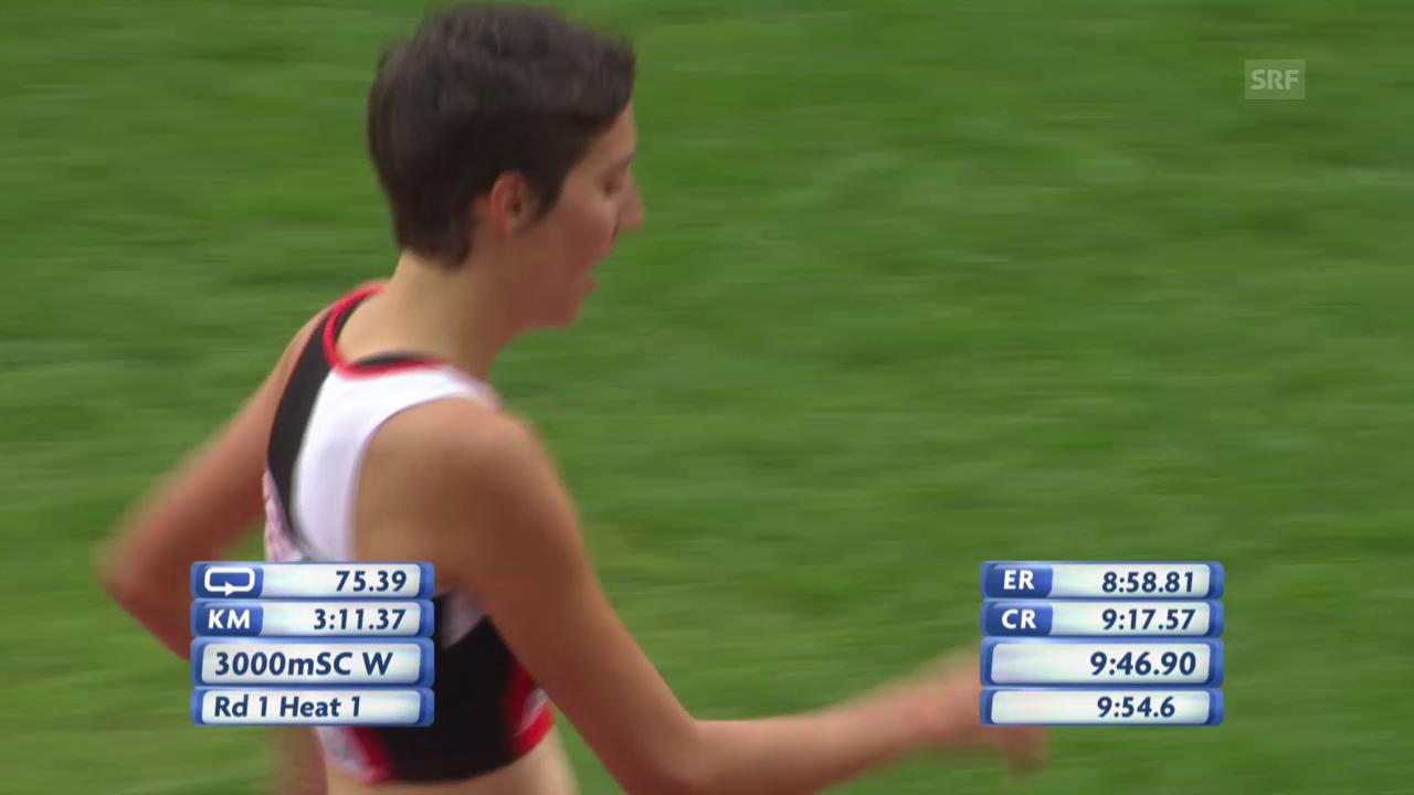 3000 m Steeple: Schlumpf erreicht den Final