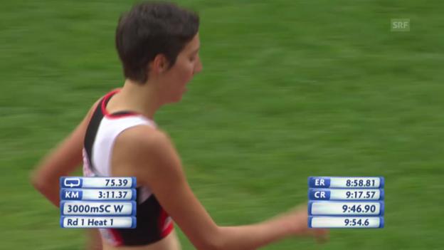 Video «3000 m Steeple: Schlumpf erreicht den Final» abspielen