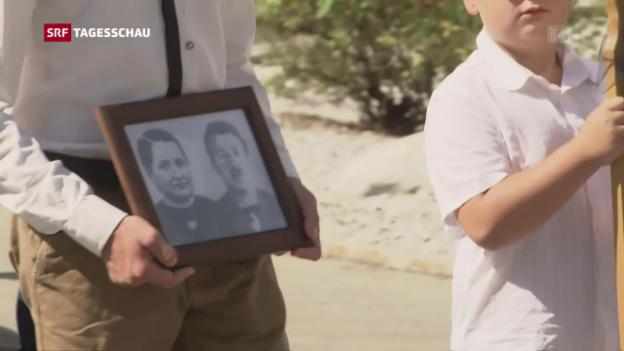 Video «Verunglücktes Ehepaar wird bestattet» abspielen