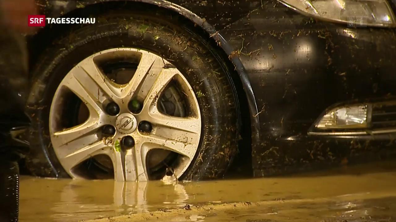 Heftige Gewitter sorgen für Überschwemmungen