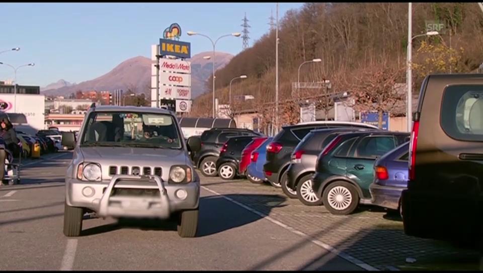 Überraschendes Ja zur Parkplatzgebühr im Tessin