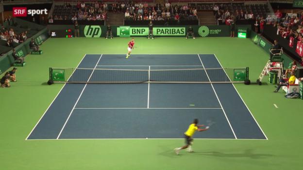 Video «Davis Cup: Chiudinelli - Campozano («sportaktuell»)» abspielen
