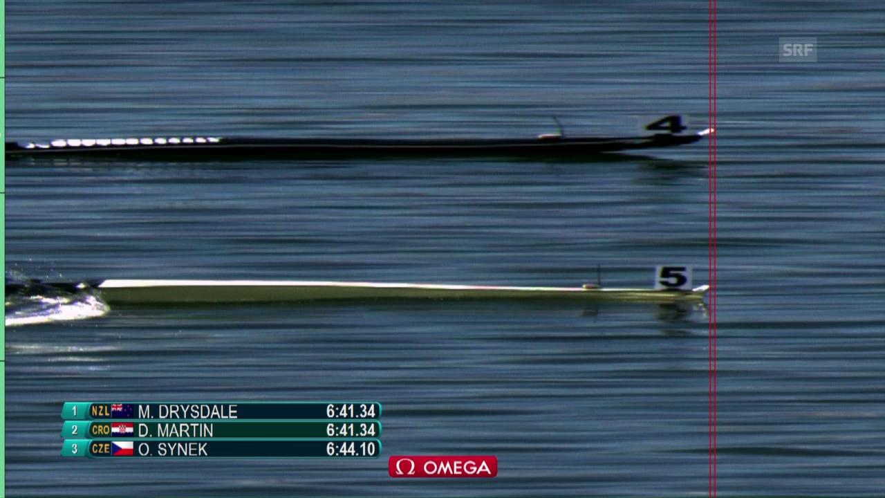 Millimeter entscheiden im Skiff-Final