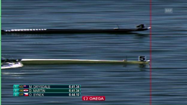 Video «Millimeter entscheiden im Skiff-Final» abspielen