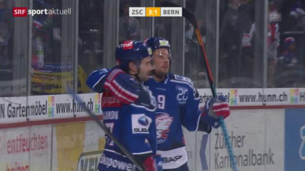 Video «Eishockey: 46. NLA-Runde, Zusammenfassung ZSC Lions - Bern (aus «sportaktuell»)» abspielen