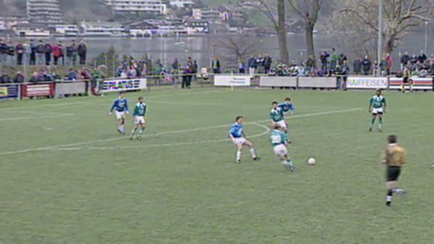 Video «1997: Buochs verliert gegen St. Gallen» abspielen