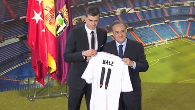 Video «Bale-Wechsel zu Real Madrid perfekt» abspielen