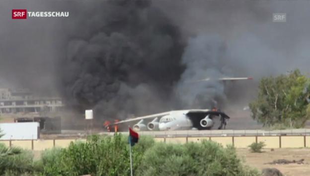 Video «Länder warnen vor Reisen nach Libyen (Tagesschau, 27.07.2014)» abspielen