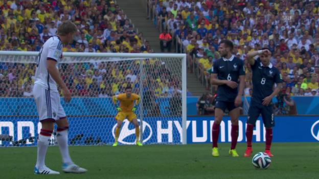 Video «FIFA WM 2014: Die 6 deutschen Treffer nach Standards» abspielen