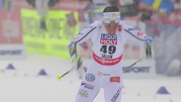 Video «Langlauf: Nordisch-WM in Falun, 10 km Einzelstart der Frauen» abspielen