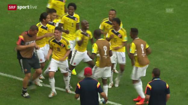 Video «Fussball: Spielbericht Kolumbien-Elfenbeinküste» abspielen