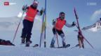 Video «Sehbehinderte Skifahrer und ihre Guides» abspielen