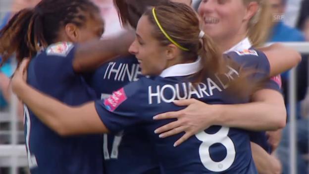 Video «Fussball: Frauen-WM, Frankreich - England» abspielen