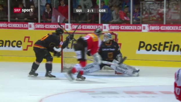 Video «Eishockey. Testländerspiel Schweiz-Deutschland» abspielen