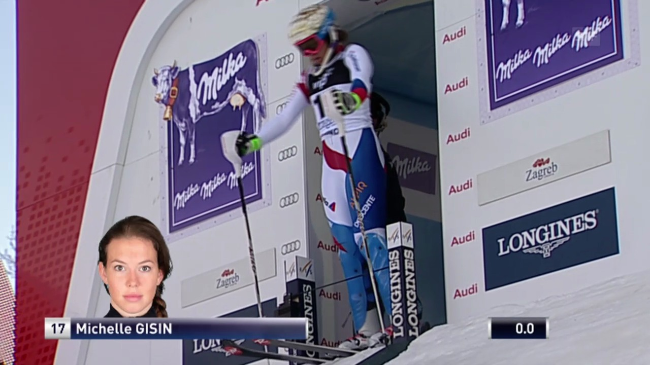 Ski: Weltcup, Slalom Frauen Zagreb, 1. Lauf Michelle Gisin