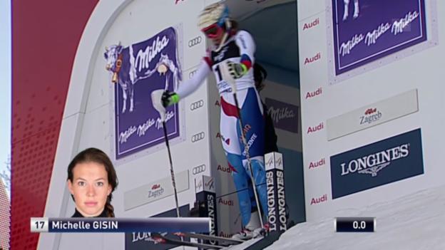 Video «Ski: Weltcup, Slalom Frauen Zagreb, 1. Lauf Michelle Gisin» abspielen