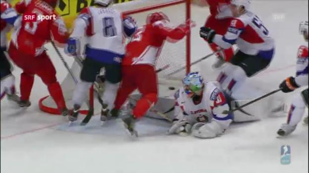 Video «Eishockey-WM: Slowenien - Dänemark» abspielen