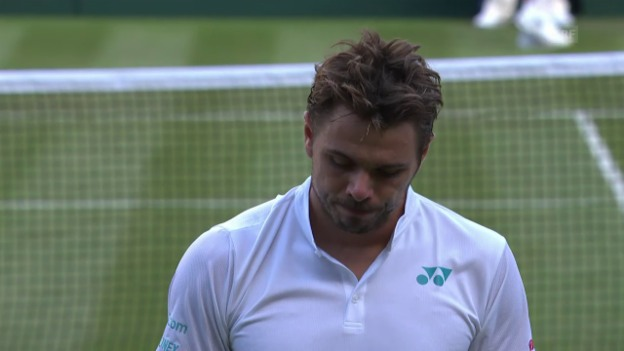 Video «Wawrinka scheitert in Wimbledon in der 1. Runde» abspielen