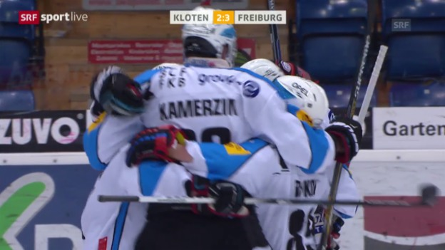 Video «Eishockey: NLA, Platzierungsrunde, Kloten - Freiburg» abspielen