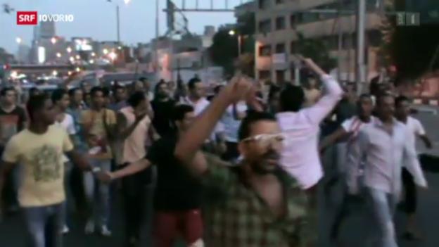 Video «Heftige Ausschreitungen in Ägypten» abspielen