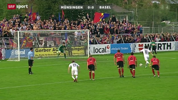 Video «Cup: Münsingen-Basel» abspielen