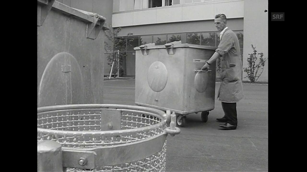 Abfallentsorgung im Lochergut in den 1960ern