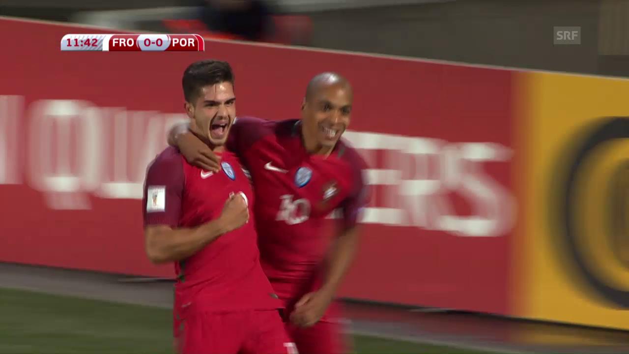Die Färöer kommen gegen Portugal unter die Räder