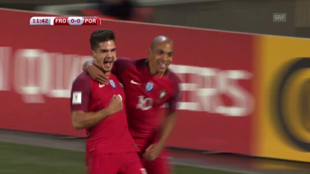 Video «Die Färöer kommen gegen Portugal unter die Räder» abspielen