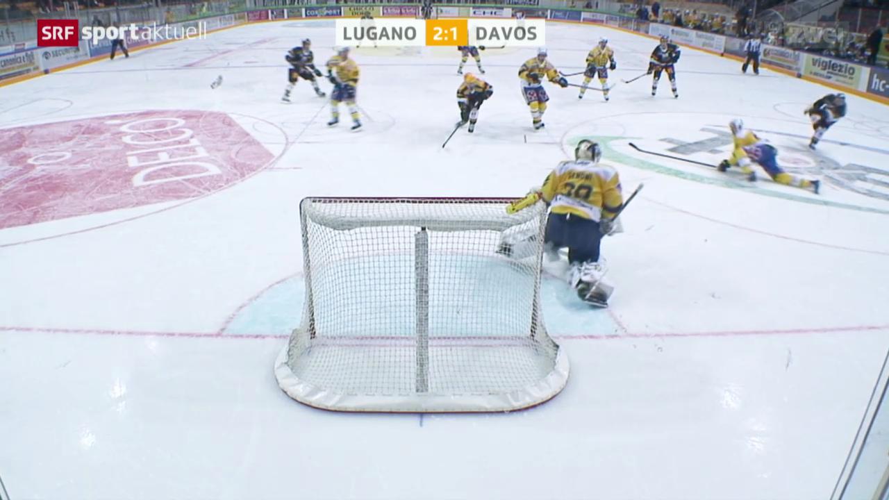 Eishockey: NLA, Lugano - Davos