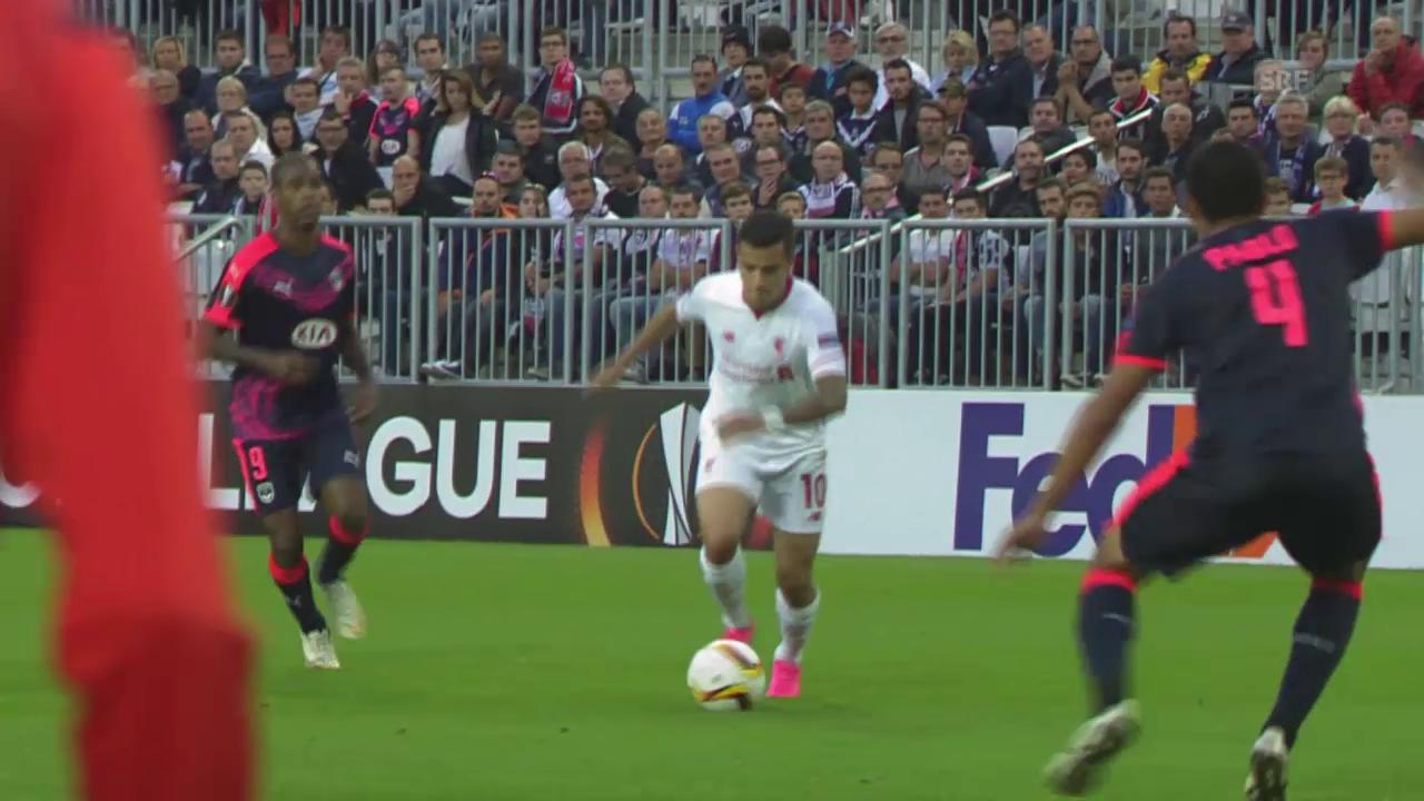 Fussball: Europa League, Zusammenfassung Bordeaux - Liverpool