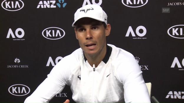 Video «Nadal zum Duell mit Federer: «Dafür haben wir hart gearbeitet»» abspielen