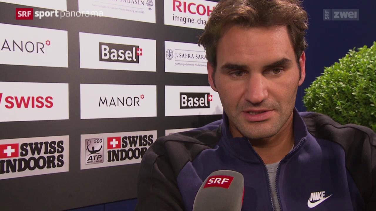 Tennis: Roger Federer vor den Swiss Indoors Basel