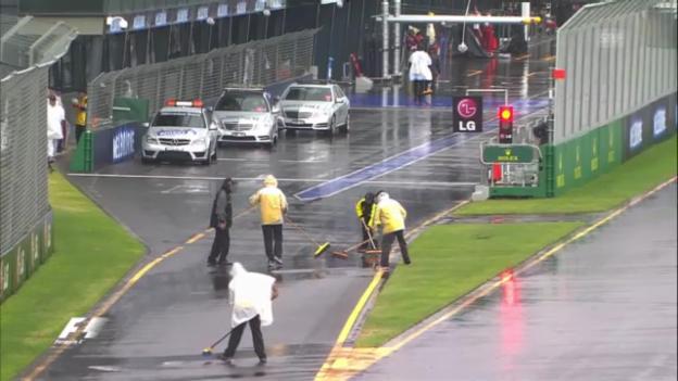 Video «F1: Regenchaos im Melbourne-Qualifying» abspielen