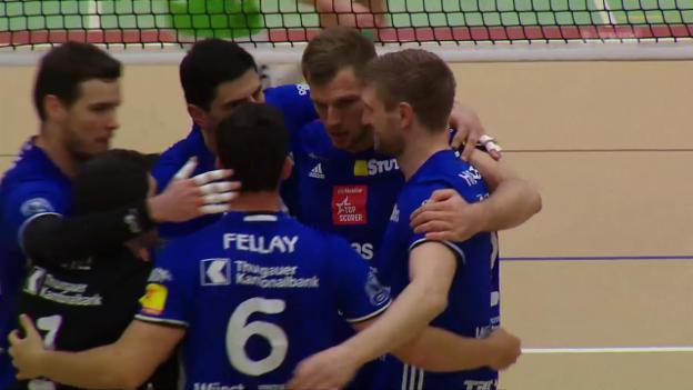 Video «Amriswil legt im Playoff-Final vor» abspielen