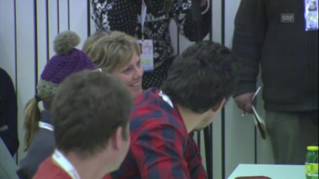 Video «Pressekonferenz: Mutter fragt Tochter («schladming aktuell»)» abspielen