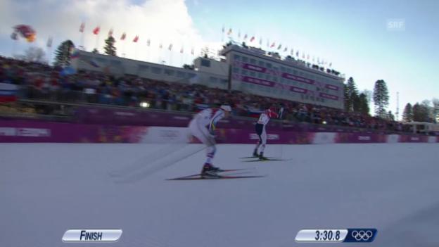 Video «Langlauf: Sprint Männer, Final (Sotschi direkt, 11.02.2014)» abspielen