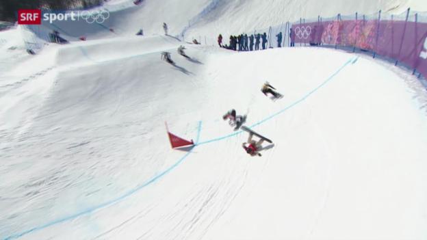 Video «Boardercross: Der spektakuläre Wettkampf der Frauen» abspielen