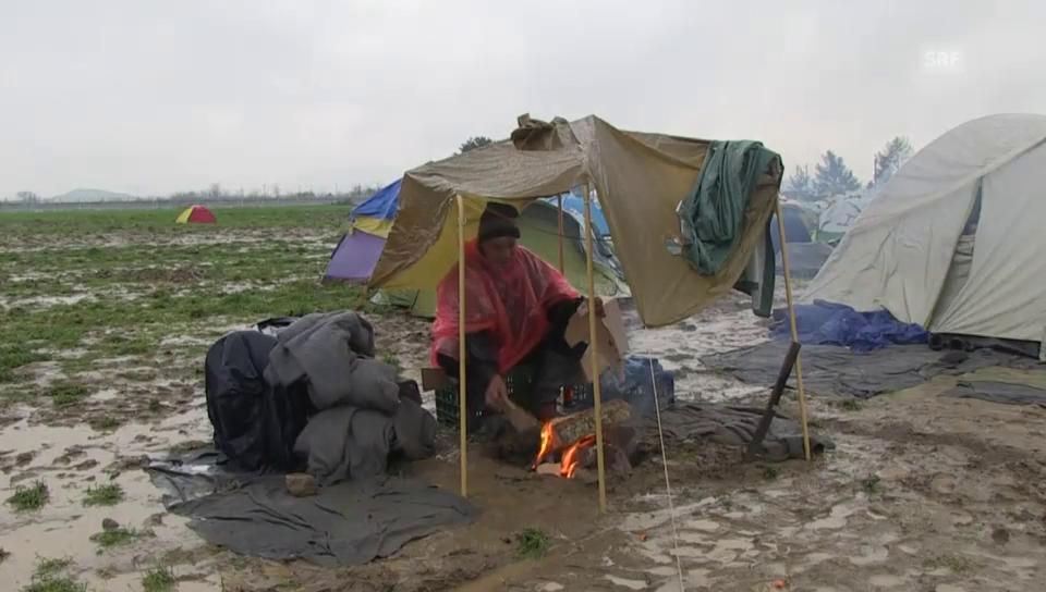 Nässe, Kälte und Matsch – unhaltbare Zustände in Idomeni