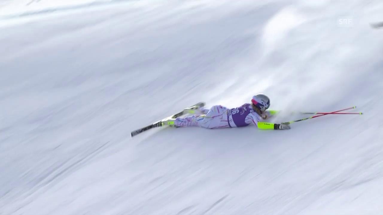 Ski alpin: Riesenslalom Frauen, Aspen, Ausfall Lindsey Vonn