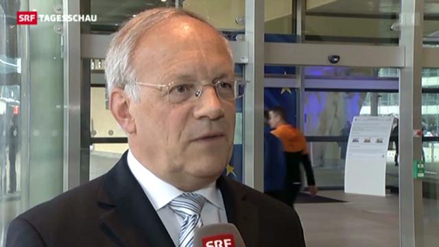 Schneider-Ammann unterzeichnet in Brüssel Wettbewerbsabkommen