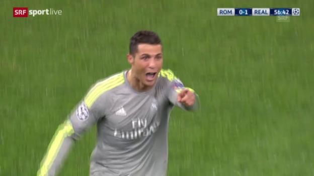 Video «Ronaldo erzielt mit etwas Glück das 1:0» abspielen