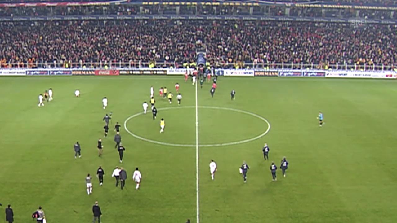 Fussball: Schande von Istanbul nach WM-Barragespiel Türkei - Schweiz 2005