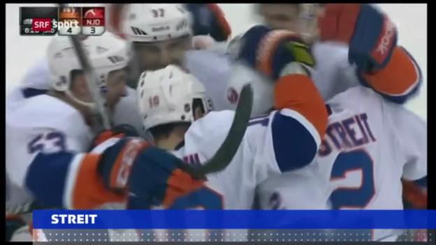 Video «Streit trifft bei Islanders-Sieg («sportaktuell»)» abspielen