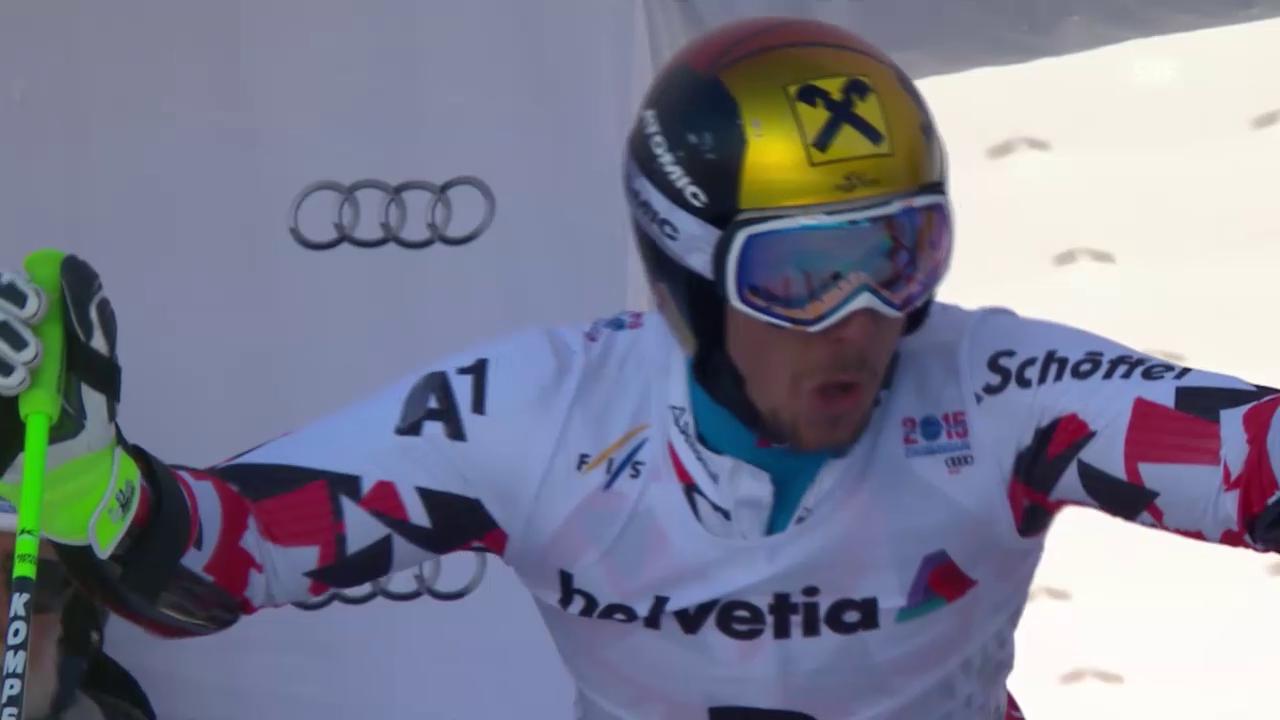 Ski: WM Vail/Beaver Creek 2015: Riesenslalom Männer, 1. Lauf von Marcel Hirscher