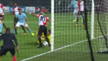 Video «Feyenoords Vilenha ganz unglücklich» abspielen