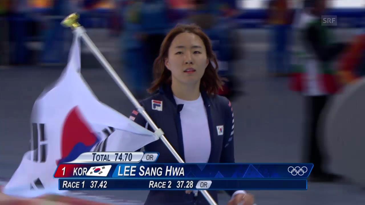 Eisschnelllauf: Entscheidung 500 m Frauen (ohne Kommentar, sotschi direkt, 11.02.2014)