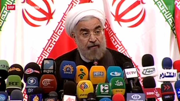 Video «Rohani verteidigt das iranische Atomprogramm» abspielen