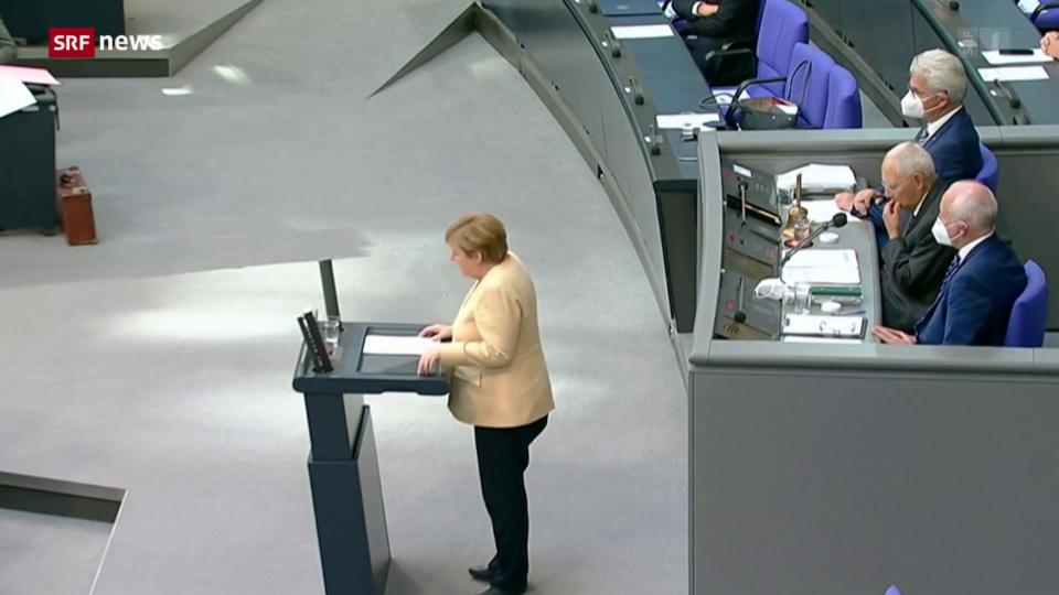 Merkels wahrscheinlich zum letzten Mal im Bundestag