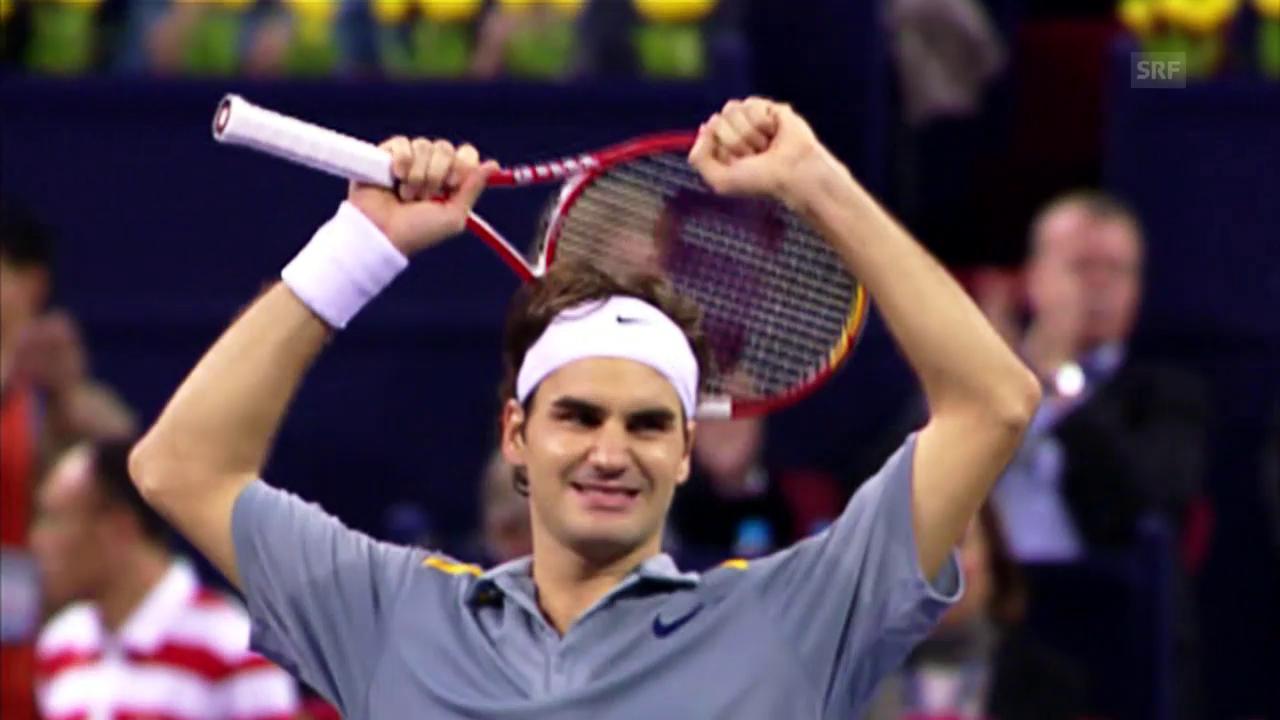 Federers perfekter Match in Schanghai